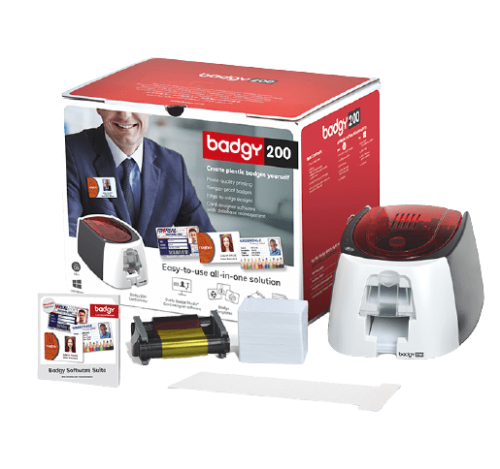 Badgy solution package including: software, printer, consumables