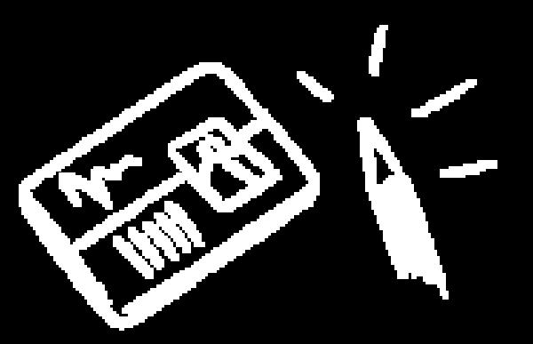 Pictogramme représentant la création de badges et de cartes avec le logiciel badge studio