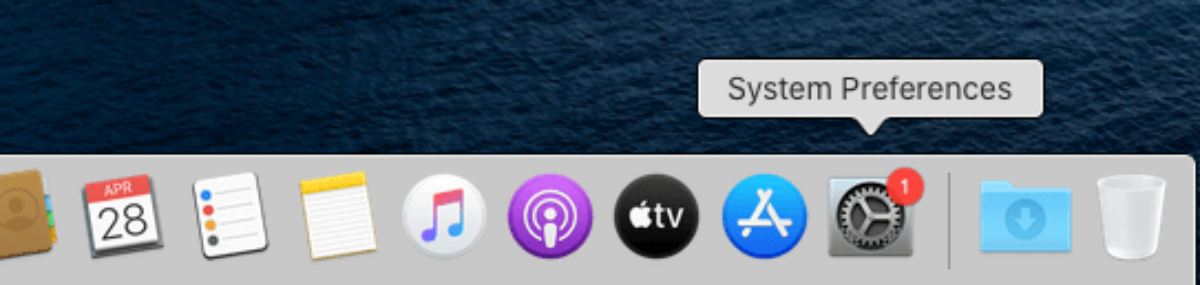 Where to find the system preferences - Apple menu