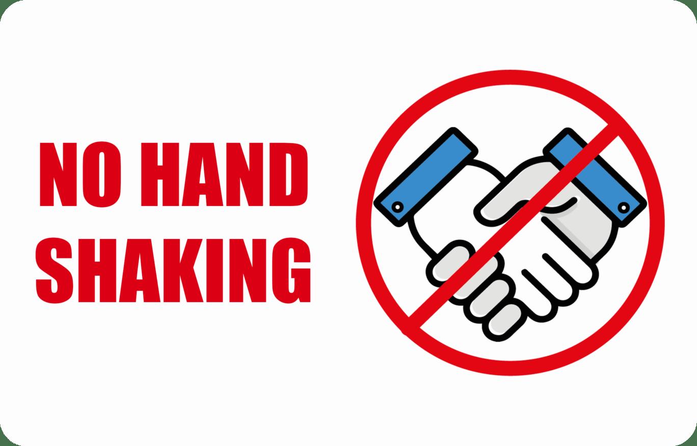 NO SHAKING CARD CR80-covid